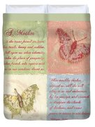 Mothers Day Butterfly Duvet Cover