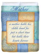 Mother's Day Spa Card Duvet Cover