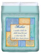 Mother's Day Spa Duvet Cover by Debbie DeWitt