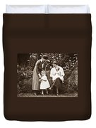 Mothers With Children Duvet Cover