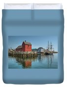 Motif #1 And The Pirate Ship Formidable Duvet Cover