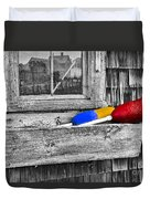 Motif Number One Sunrise Reflections Bw Duvet Cover