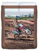 Motocross Rider Duvet Cover