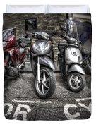 Motor Cycles Duvet Cover