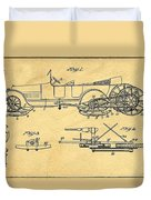 Motor Driven Sleigh Support Patent Drawing From 1915 1 Duvet Cover