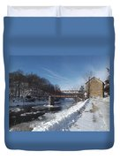 Motor Mill In Winter Duvet Cover