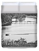 Motorboat Ride Duvet Cover