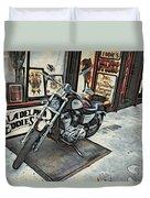 Motorcycle At Philadelphia Eddies Duvet Cover
