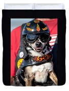 Motorcycle Chihuahua Duvet Cover