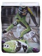 Kawasaki Motorcycle Crash Duvet Cover