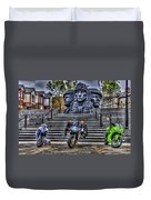 Motorcycle Rally 4 Duvet Cover