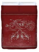 Motorcycle Support Patent Drawing From 1932 3 Duvet Cover