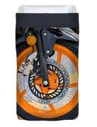 Motorcycle Wheel Duvet Cover