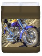 Motorcycle Without Blue Frame Duvet Cover
