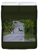 Motorcycles And Bicycles Duvet Cover