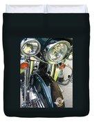 Motorcyle Classic Headlight Duvet Cover