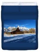 Moulton Barn Closeup Duvet Cover