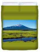 Mount Bachelor And Meadow Duvet Cover