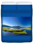 Mount Bachelor And Sparks Lake Duvet Cover