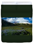 Mount Baker Lupine Meadows Duvet Cover