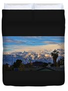 Mount Baldy On A New Years Eve Duvet Cover