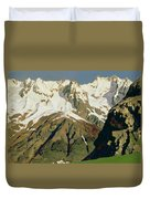 Mount Blanc Mountains Duvet Cover