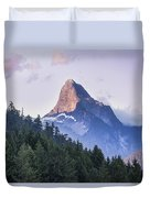 Mount Denman In Desolation Sound Marine Duvet Cover