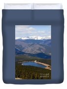 Mount Evans And Echo Lake Duvet Cover