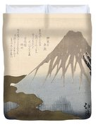 Mount Fuji Under The Snow Duvet Cover