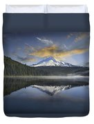 Mount Hood At Trillium One Early Morning Duvet Cover
