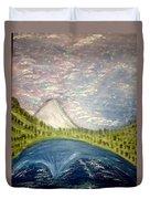 Mount Hood Night Sky Duvet Cover