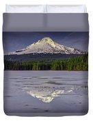 Mount Hood Reflections Duvet Cover