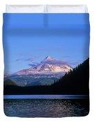 Mount Hoods Looms Over Lost Lake  Hood Duvet Cover