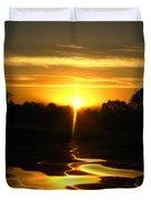Mount Lassen Sunrise Gold Duvet Cover