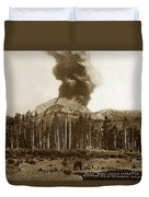 Mount Lassen Volcano California 1914 Duvet Cover