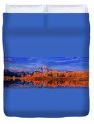 Mount Moran And Fall Color Grand Tetons Duvet Cover