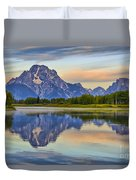 Mount Moran At Sunrise Duvet Cover