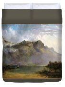 Mount Olympus. Lake St Clair. Tasmania The Source Of The Derwent Duvet Cover