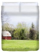 Mount Pleasant Red Barn Duvet Cover by Cricket Hackmann