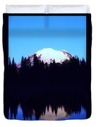 Mount Rainer At Tipsoe Lake In The Sunrise Duvet Cover