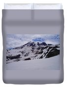 Mount Rainer In The Clouds Duvet Cover