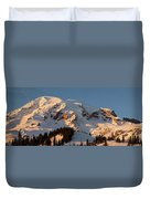 Mount Rainier Alpenglow Duvet Cover