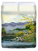 Mount Rainier From Carbon River Duvet Cover
