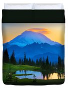 Mount Rainier Goodnight Duvet Cover by Inge Johnsson