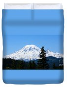 Mount Rainier Panorama Duvet Cover
