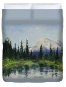 Picnic By The Lake Duvet Cover