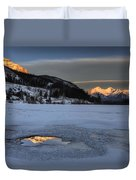Mount Rundle And Vermillion Lakes Duvet Cover