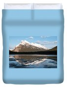 Mount Rundle Reflections Duvet Cover