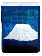 Mount Shasta Original Painting Duvet Cover