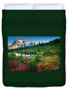 Mount Shuksan Fall Cornucopia Duvet Cover